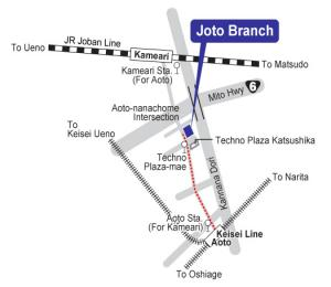 Map of Joto Branch