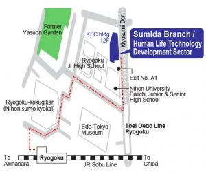 Map of Sumida Branch / Human Life Technology Development Sector